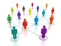 Rede social dos meios - conceito de conexão dos povos ilustração royalty free