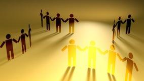 Rede social dos povos que guardam as mãos ilustração do vetor