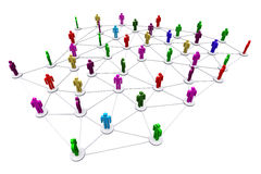 Rede social humana do negócio Imagens de Stock