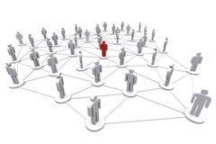 Rede social humana do negócio Imagens de Stock Royalty Free