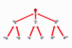 Rede social humana do negócio Imagem de Stock