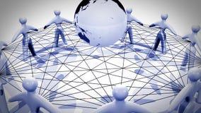 Rede social 4k ilustração stock