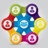 Rede social que ilustra conexões Fotografia de Stock Royalty Free
