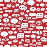 Rede sprudelt Muster auf rotem Hintergrund Stockfotos