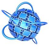 Rede televisiva global Imagem de Stock Royalty Free