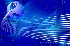 Rede - uma comunicação - vetor Imagens de Stock