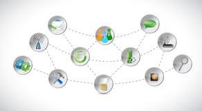 A rede utiliza ferramentas a conexão Imagem de Stock Royalty Free