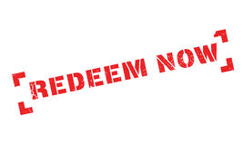 Redeem Now rubber stamp Royalty Free Stock Photo