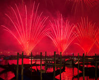 Redeemer festival of fireworks Royalty Free Stock Images
