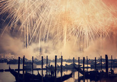 Redeemer festival of fireworks Royalty Free Stock Image