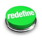 Redefine Button Press to Reinvent Reimagine Rethink New Improvem Stock Photos