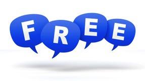 Redefreiheit sprudelt Illustration des Konzeptes 3d Lizenzfreies Stockbild