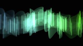 Redemoinho abstrato Aurora Effect Computer Graphic rendida no fundo preto ilustração do vetor