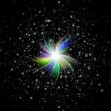 Redemoinho claro da textura no céu noturno ilustração royalty free