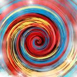 Redemoinho colorido da pintura ilustração stock