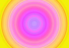 Redemoinho cor-de-rosa amarelo que hipnotiza o projetor Fotografia de Stock