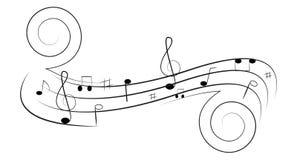 Redemoinho da música ilustração stock