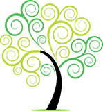 Redemoinho da planta da árvore de Swirly Foto de Stock Royalty Free
