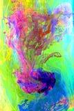 Redemoinho das cores no verde ilustração stock