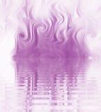 Redemoinho de seda da ondinha do fumo Fotografia de Stock