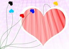 Redemoinho do coração do amor Imagens de Stock Royalty Free