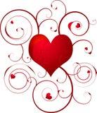 Redemoinho do coração do amor ilustração do vetor