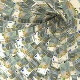 Redemoinho do dinheiro de 5 notas do Euro Foto de Stock
