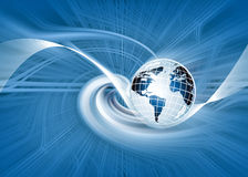 Redemoinho do globo global Foto de Stock
