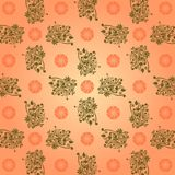 Redemoinho do sumário do Batik do papel de parede na forma quadrada Imagem de Stock