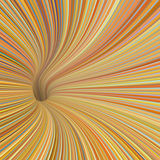 redemoinho do túnel 3d em cores do amarelo alaranjado Imagens de Stock Royalty Free