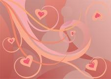 Redemoinho e corações Fotografia de Stock