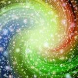 Redemoinho no espaço Série da torção e do redemoinho Interação das cores ilustração stock