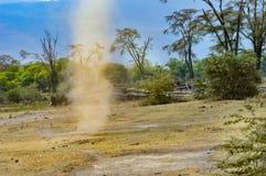 Redemoinho pequeno da poeira Foto de Stock Royalty Free