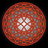 Redemoinhos & círculos da laranja Imagens de Stock
