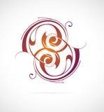 Redemoinhos caligráficos Fotografia de Stock