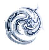 Redemoinhos da água ilustração royalty free