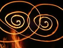 Redemoinhos da flama Fotografia de Stock Royalty Free