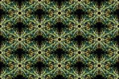 Redemoinhos de linhas do fractal no backround preto ilustração royalty free