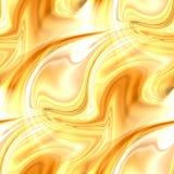 Redemoinhos dourados do sumário - teste padrão sem emenda elegante Imagens de Stock Royalty Free