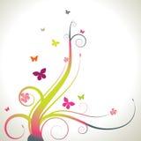 Redemoinhos e borboletas ilustração stock