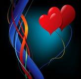 Redemoinhos e corações Imagens de Stock