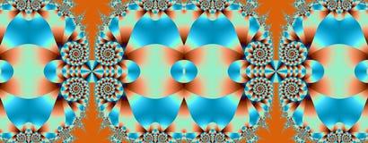 Redemoinhos em azul e em alaranjado Fotografia de Stock Royalty Free