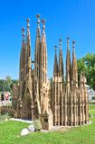 Redemptive Sagrada Familia, Barcelona.Klagenfurt.Minimundus. Austria Royalty Free Stock Photos