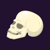 Reden Sie totes Übel des gotischen menschlichen skeleton Symbols der Schädelgesichtshalloween-Horrorarttätowierungsanatomiekunstk Lizenzfreies Stockfoto