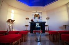 Redentor de christ da igreja imagem de stock
