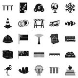 Redeployment icons set, simple style Royalty Free Stock Photo