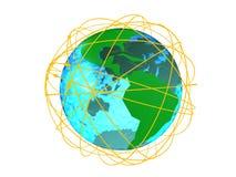 Redes alrededor del globo Fotografía de archivo libre de regalías