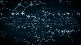 Redes de datos azules stock de ilustración