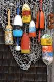 Redes de los pescados Imagenes de archivo