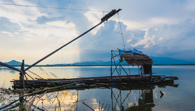 Redes de mergulho quadradas da pesca Imagens de Stock Royalty Free